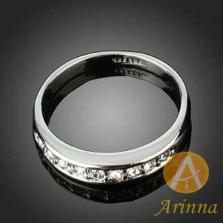 ARINNA wedding posh Ladies Cocktail Fashion Ring 18K WGP Swarovski