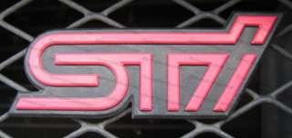 STi Front Grill Emblem Badge JDM SUBARU IMPREZA WRX WRC