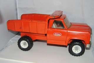1970s Steel TONKA #2315 Orange Tonka Dump Truck