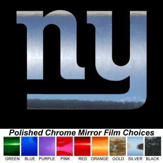 New York Giants NY Logo 17 x 23 Chrome Auto Car Truck Window Sticker