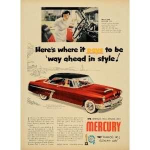 Ad Ford Mercury Mobil Gas Economy Run Car Awards   Original Print Ad