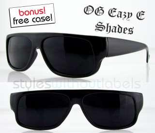 OG Eazy E Black Wrap Locs SUPER DARK Car Motorcycle Sunglasses Cholo X