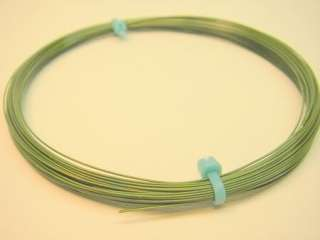 50 Ft 30 AWG Solid Wire Silver Plated   Green Teflon
