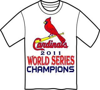 St. Louis Cardinals World Series Champions 2011 Baseball Champs T