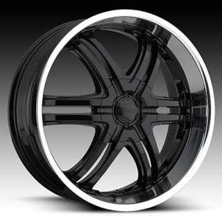 22 x9 Boss 331 3312 Black Wheels Rims 5 6 8 Lug