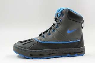 Nike Woodside ACG Grey Black Blue Winter Boot Authentic Big Kids Boot