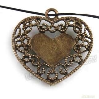 Charms Heart Love Alloy Pendant Fit Necklace Bracelets 141573