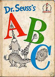 DR. SEUSSS ABC BEGINNER BOOK 1963 USED