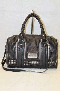 WOMAN Satchel Handbag Purse Black #GU 3990