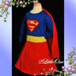 Superwoman Girl Fancy Party Dress Up Costume Size 7 8