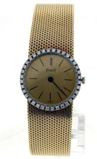Piaget Classique, 18k Yellow Gold DIAMOND Ladies Watch.