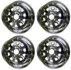 NEW 15x8 BEADLOCK RACING WHEEL SET,BLACK,5 X 4.75,2 BS,CHEVY,BUICK