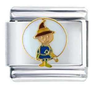 Comic Scarecrow Italian Charms Bracelet Link Pugster