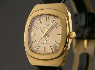 Eterna SONIC Rare ELECTRONIC Watch Pre Quartz, Solid 18K Gold