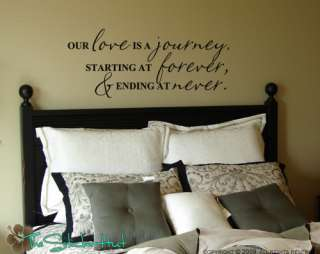 Our Love is a Journey Wall Words Stickers Decals 491