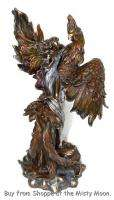 Rising PHOENIX & FAIRY *BRONZE* Statue Figurine NEW