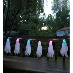 Battery Powered Lighted Ghosts Garland