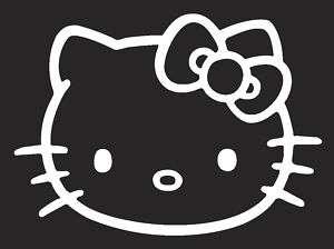 Hello Kitty decal sticker 4 white car windows laptop