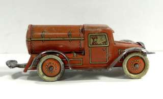 LEVY GELY 231 ROAD SWEEPER TANK WIND UP LITHO TIN PENNY TOY