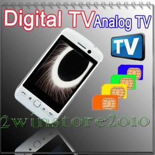Unlocked 4 sim TV Mobile phone fashion cell Phone MP3 MP4 touch screen