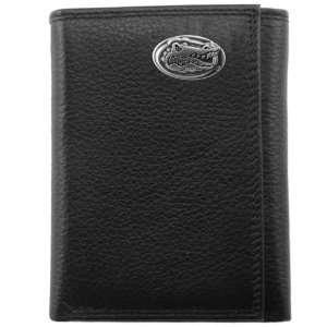 NCAA Florida Gators Black Leather Tri Fold Wallet