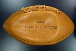 1965 Green Bay Packers Team signed Football w/Vince Lombardi NFL