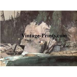 Martell Mason Fly Fishing Print   Ahold of Him At Last