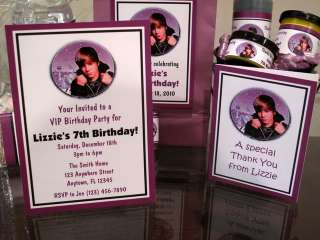 Justin Bieber Birthday Invitation Favor Tag Water Candy