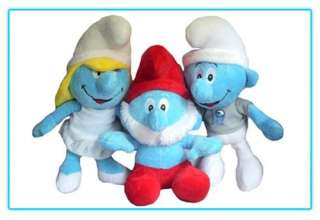 THE SMURFS (2011) Movie Clumsy Smurf Stuffed Plush Doll Toy 13 inch