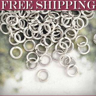 450pcs wholesale fashion Iron Round Nickel Plated Open Jump Rings