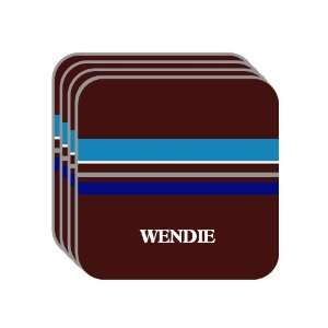 Personal Name Gift   WENDIE Set of 4 Mini Mousepad Coasters (blue