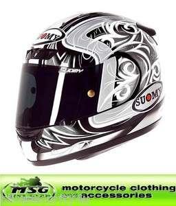 Suomy Apex Tornado Motorcycle Helmet Silver/Anthracite Large