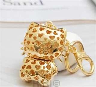Heart New Hello Kitty Fashion Cat Swarovski Crystal Charm Pendant Key
