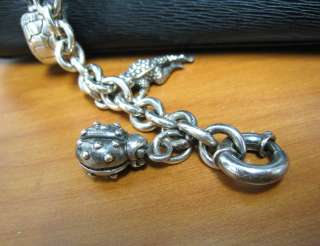 Kieselstein   Cord Barry Sterling Silver 925 Charm Bracelet & Leather