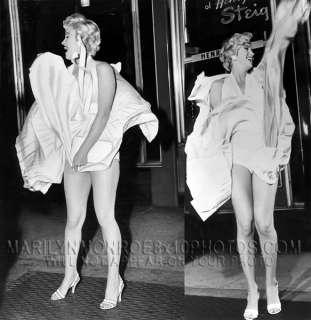 MARILYN MONROE 7YR ITCH BLOWING DRESS 3xRARE8x10 PHOTOS
