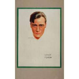 1926 Leslie Fenton Usabal Fox Silent Film Star Director   Orig. Hand