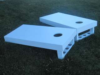 Pine boards painted white with cup holders  Top picture Check out