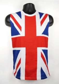 80s Union Jack DEF LEPPARD UK Flag Sleeveless Shirt Tank Top