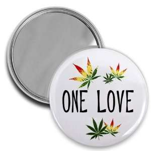 ONE LOVE REGGAE 420 Marijuana Pot Leaf 2.25 inch Pocket