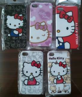 Hello Kitty Pink Red Black White Hard Plastic Case Back Cover for