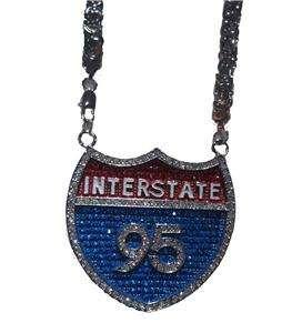 Interstate I95 Fat Joe Rick Ross Chain Necklace Pendant