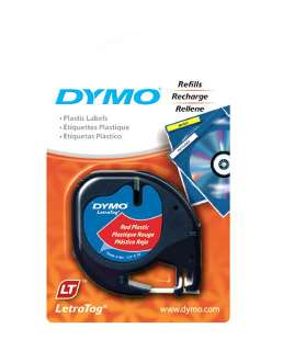 6PK Dymo 91333 LetraTag Cosmic RED Label Refill Tapes Letra Tag PLUS