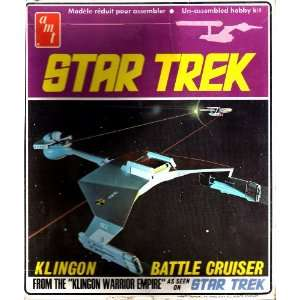 Star Trek Klingon Battle Cruiser Model Un assembled Hobby