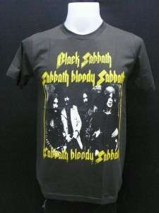 Black Sabbath music english rock band men vtg t shirt szM