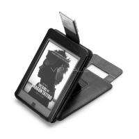 KINDLE TOUCH FLIP PURPLE LEATHER COVER CASE WITH COMPACT READING LIGHT