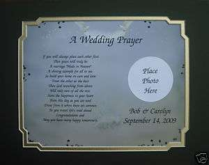 WEDDING PRAYER PERSONALIZED GIFT FOR BRIDE & GROOM