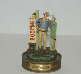 John Wayne Franklin Mint Glass Dome Western Legend