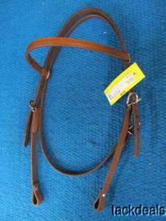 New Tex Tan 5/8 Chestnut Leather Horse Western Headstall |