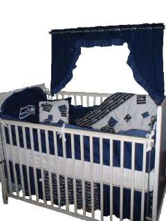 Baby Nursery Crib Bedding Set w/Seattle Seahawks fabric