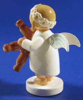 Wendt Kuhn Angel Teddy Bear Snowflake Figurine German